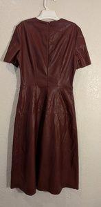 Zara woman leather dress nwt 4